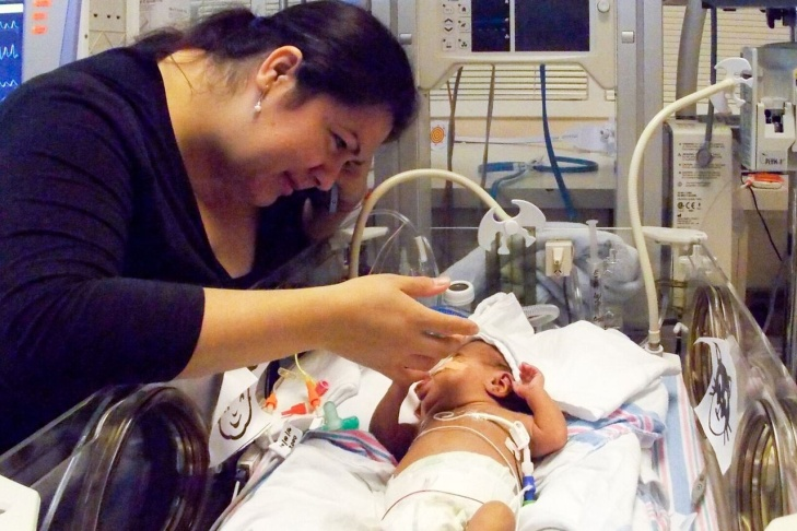 Maria Avelar, 36, gave birth prematurely to Isaac Acevedo in May 2016. He has seen specialists for his lungs, heart, eyes, brain and stomach. Through a partnership with Providence Tarzana Medical Center, Children's Hospital Los Angeles doctors are operating the neonatal intensive care unit where Acevedo has been since his birth.