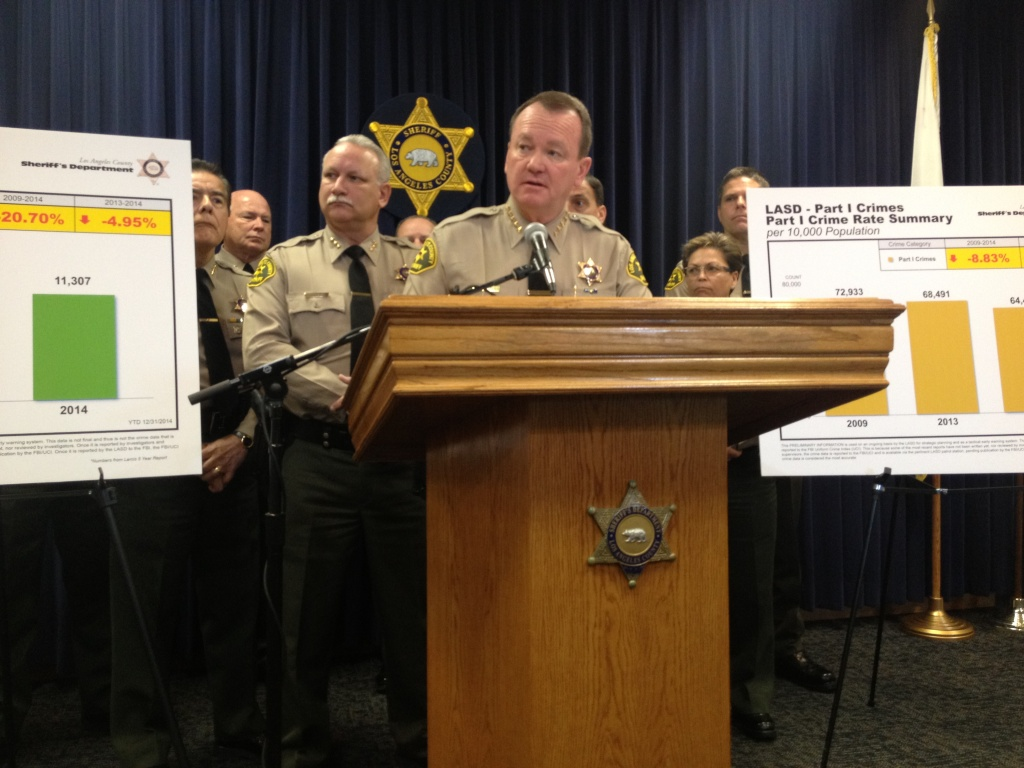 Los Angeles Sheriff Jim McDonnell attributes 2014 crime reduction to better policing and community relations.