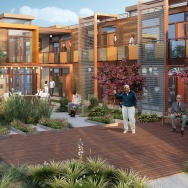 slideshow converting shipping containers into housing for homeless