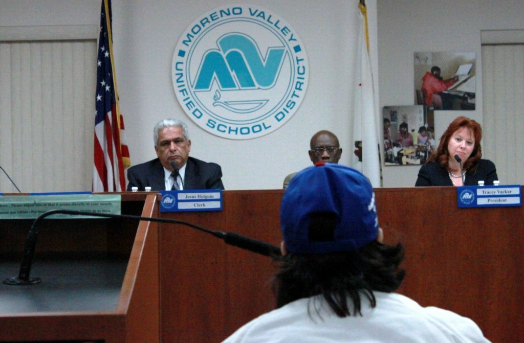 Moreno Valley Unified School District attorney Christopher Keeler explains options board has to restrict jailed trustee Mike Rios.