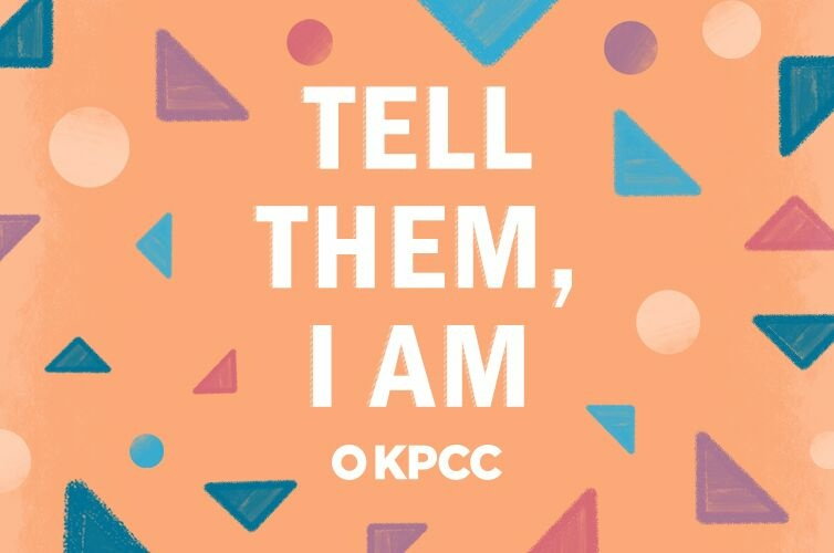 The logo for KPCC's new podcast