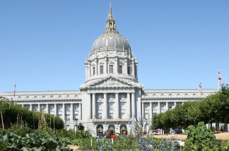 The Civic Center Plaza in San Francisco, California.