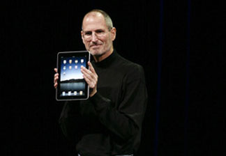 Apple CEO Steve Jobs announces the new iPad in January. Apple had been hinting for months that the highly anticipated device would be a game-changer and it has launched a new market for tablets.