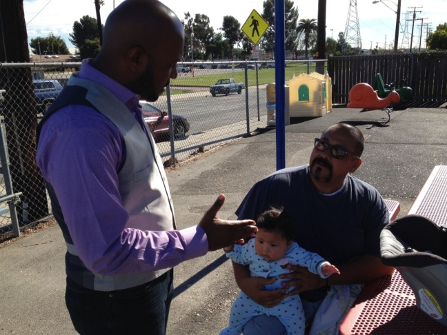Micah Ali is a strong advocate for quality preschool education for his district's 3-5 year olds. His car is his