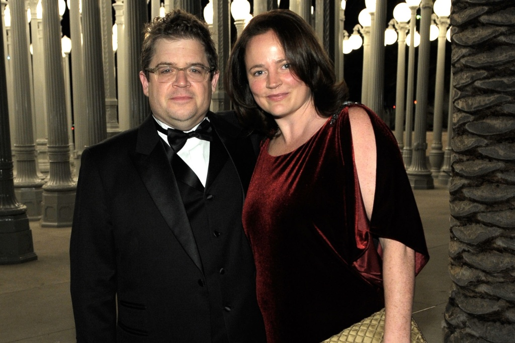 Patton Oswalt (L) and Michelle Eileen McNamara attend LACMA Art + Film Gala Honoring Clint Eastwood and John Baldessari Presented By Gucci at the Los Angeles County Museum of Art on Nov. 5, 2011.