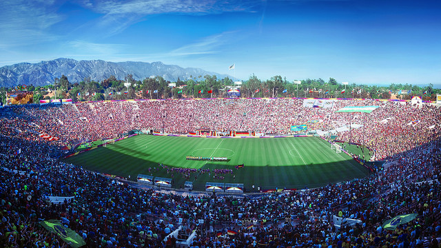 Soccer would be played at the Rose Bowl in Pasadena.