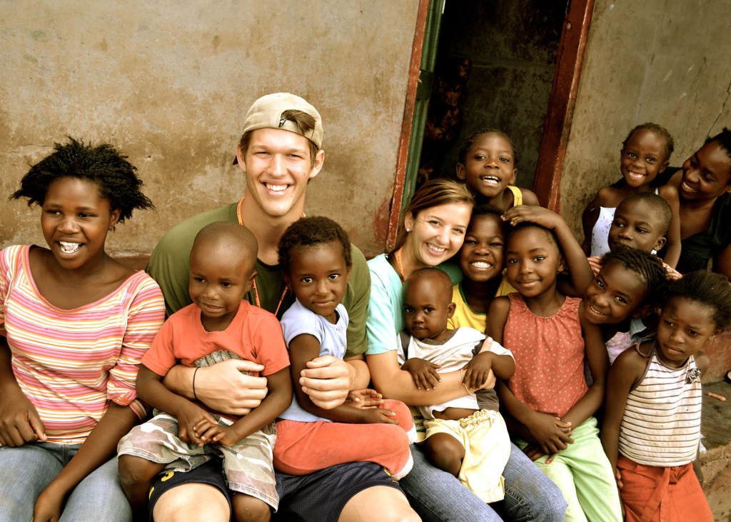 Clayton and Ellen Kershaw in Zambia.