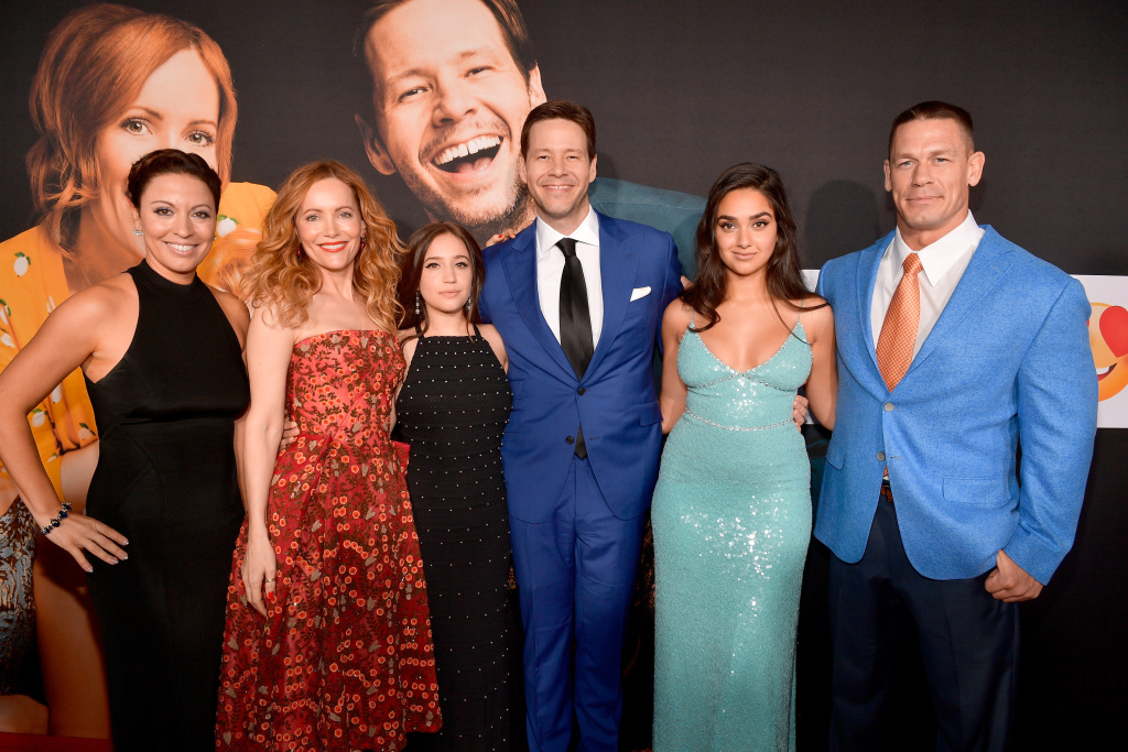 (L-R) Kay Cannon, Leslie Mann, Gideon Adlon, Ike Barinholtz, Geraldine Viswanathan, and John Cena at the L.A. premiere of