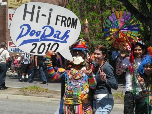 Attendees of the annual Pasadena Doo Dah Parade.