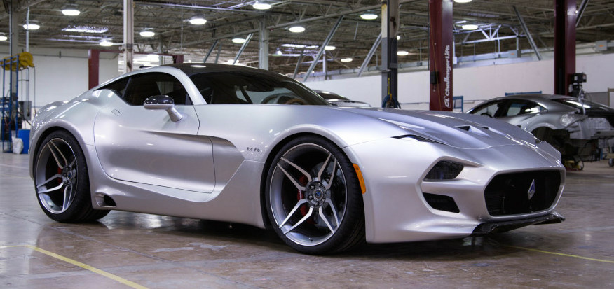 The Force 1 V10, from a new automaker formed by a group of heavy hitters that include designer Henry Fisker and former GM CEO Bob Lutz.