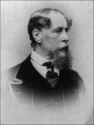 An archive photograph of Charles Dickens.