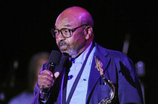 James Moody onstage at the ASCAP Pied Piper award celebration in honor of Quincy Jones at the Nokia Theatre on April 22, 2008 in New York City. Moody passed away this December.