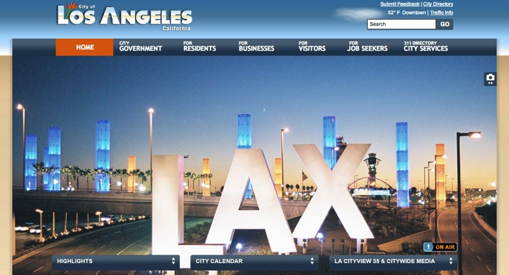 Los Angeles gets its first major website redesign since the days when words