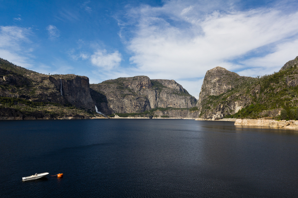 Hetch Hetchy Reservoir serves the San Francisco Public Utility Commission water and power.