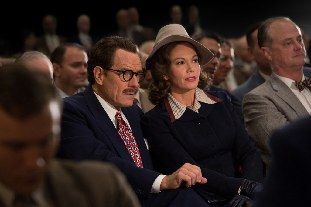 Bryan Cranston stars as Dalton Trumbo and Diane Lane is his wife, Cleo, in Jay Roach's