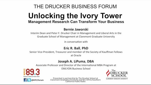 Unlocking the Ivory Tower - Management Research can Transform your Business