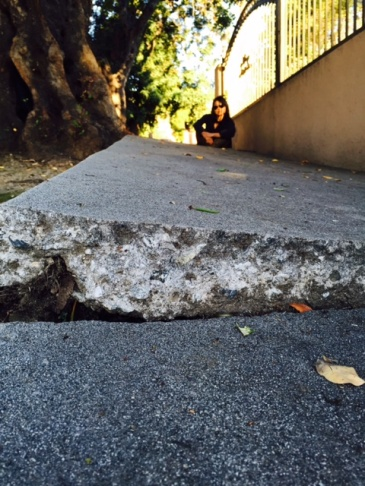 Mar Vista homeowner Tina Segler wanted the city to even out her buckled sidewalk. Instead, the city work crew applied an asphalt patch that is separating and creating a tripping hazard.