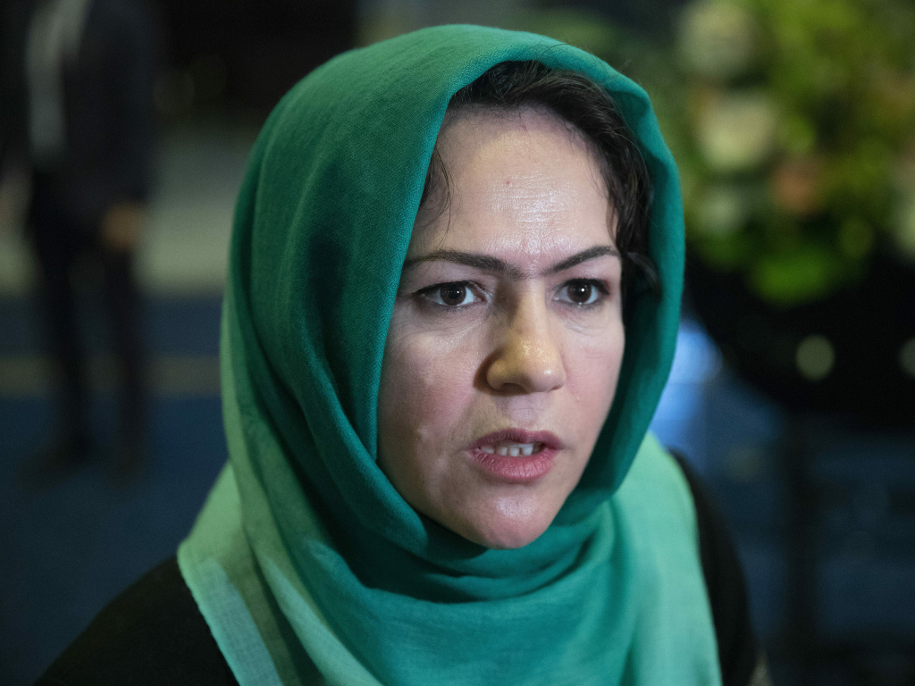 Afghan politician Fawzia Koofi, seen here in 2019, is one of four women on the Afghan government team holding peace talks with the Taliban.