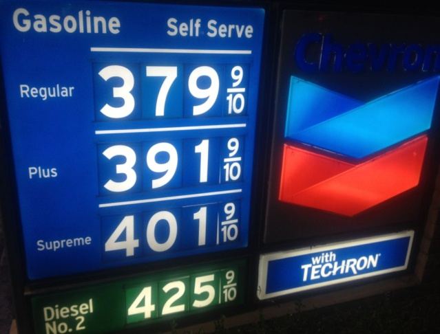 Thanksgiving 2012 gasoline prices