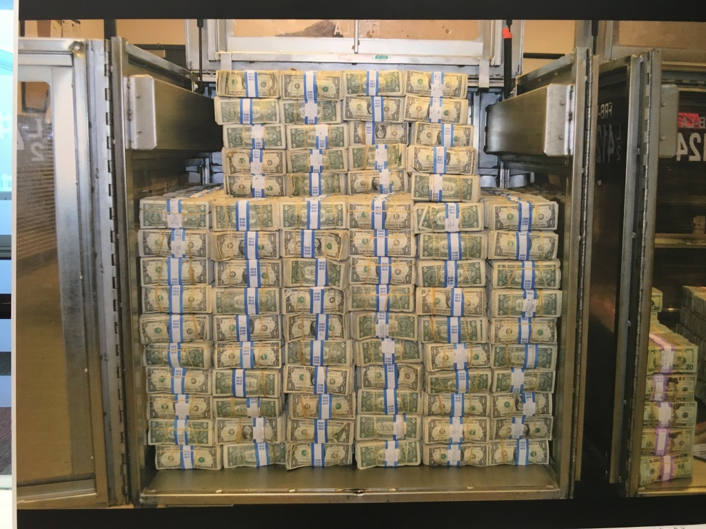 $600,000 worth of $1 bills from an LAPD drug bust.