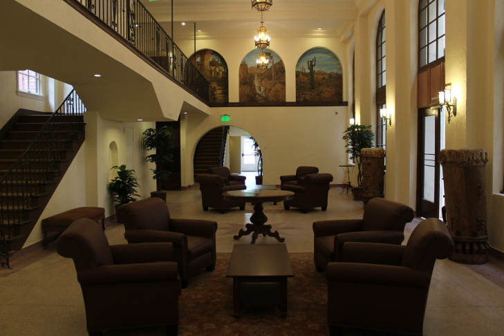 The renovated lobby of the new Dunbar Hotel, which has its grand opening next week.