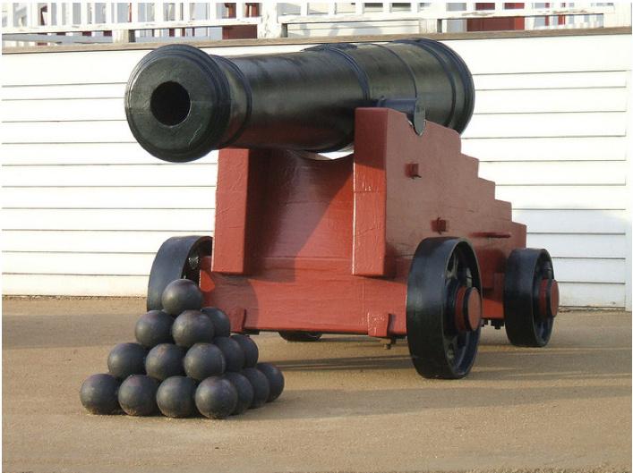 Replica cannon | Fort Vancouver National Historic Site, Washington