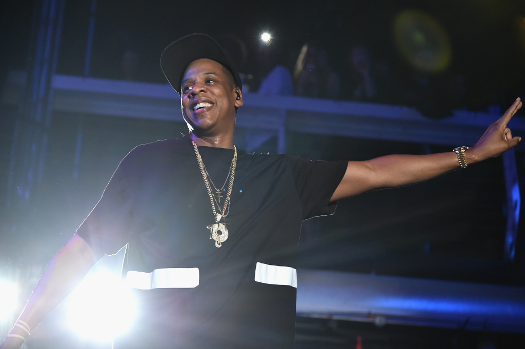 Jay-Z performs during TIDAL X: Jay-Z B-sides in NYC on May 17, 2015 in New York City.