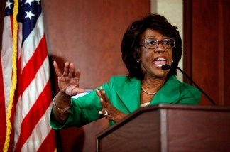 File photo: Rep. Maxine Waters (D-CA) holds a news conference on Aug. 13, 2010 in Washington, D.C., to challenge the charges made against her by the House of Representatives ethics committee.