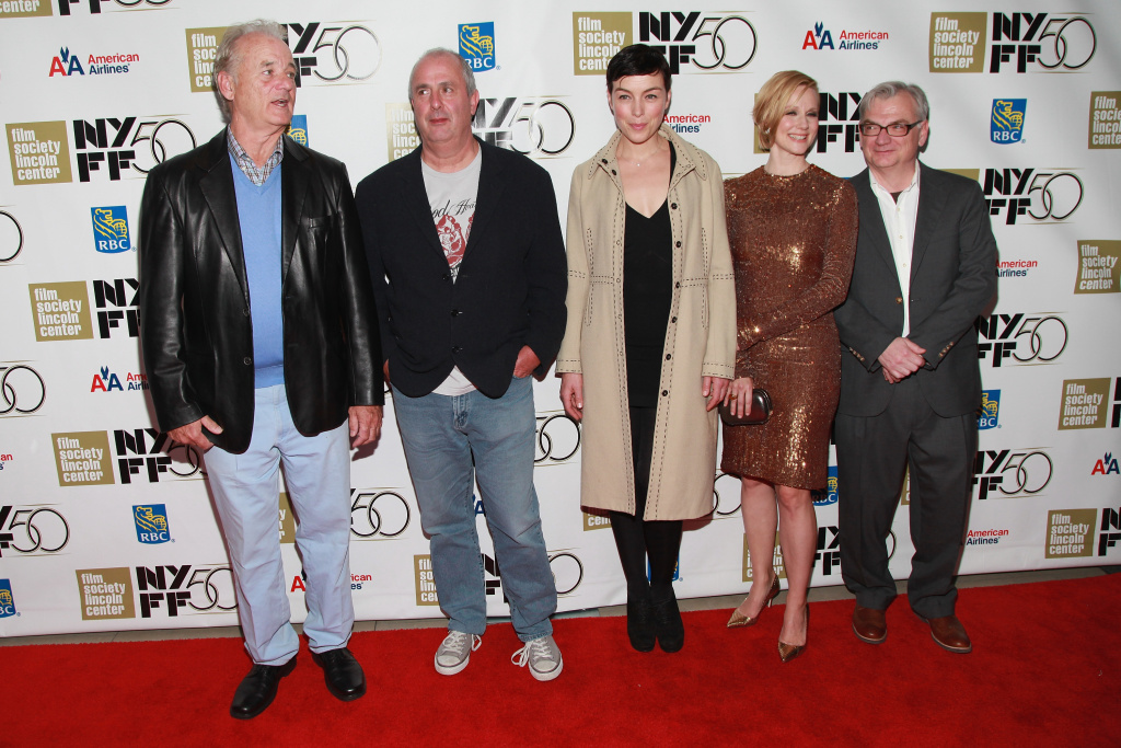 Actor Bill Murray, director Roger Michell, actress Olivia Williams, actress Laura Linney, and screenwriter Richard Nelson attend  the