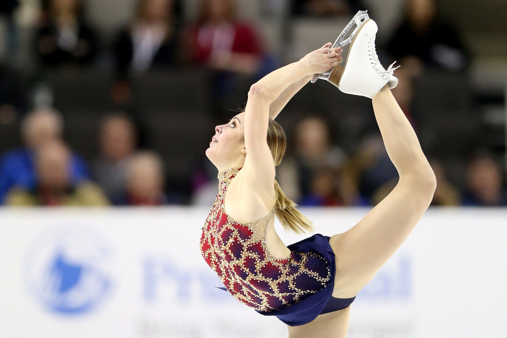 Ashley Wagner competes in the Ladies Short Program during the 2018 Prudential U.S. Figure Skating Championships at the SAP Center on January 3, 2018 in San Jose, California.