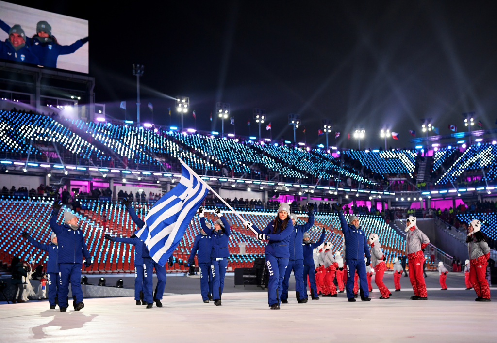 By tradition, Greece, the home of the original Olympics, enters first.