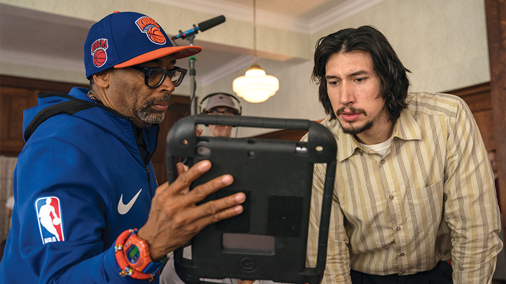 Spike Lee on the set of