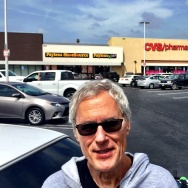 Journalist Joe Domanick at a strip mall at Western and Venice on Monday, April 24, 2017. 25 years earlier, he'd witnessed LAPD cops ignoring the looting at the Payless and CVS.