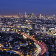 los angeles skyline holiday hdr