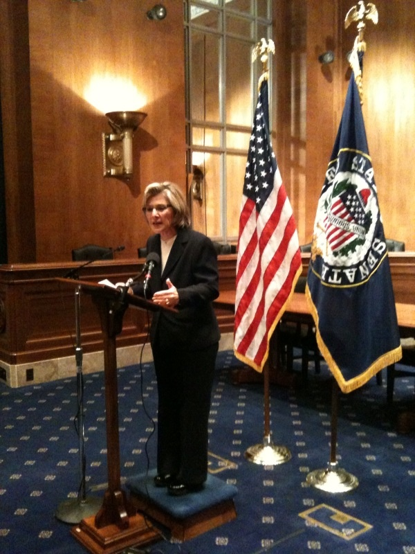 Democratic Sen. Barbara Boxer says she'll fight efforts to stop the Environmental Protection Agency from regulating greenhouse gas emissions.