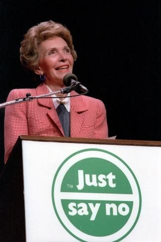 Nancy Reagan at a
