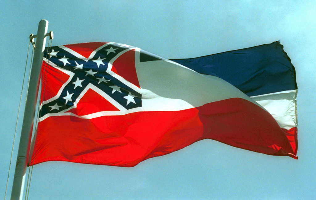 Some Southern California attorneys are calling for Santa Ana to remove the Mississippi state flag from a display at its civic center.