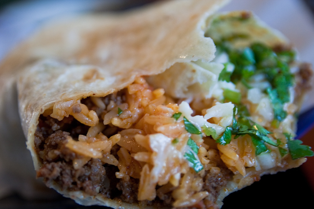 The burrito in this picture also DOES NOT contain meth. It is just a picture of a delicious burrito.