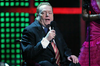 File photo: Hustler magazine publisher Larry Flynt accepts an award during the 25th annual Adult Video News Awards Show at the Mandalay Bay Events Center January 12, 2008 in Las Vegas, Nevada.