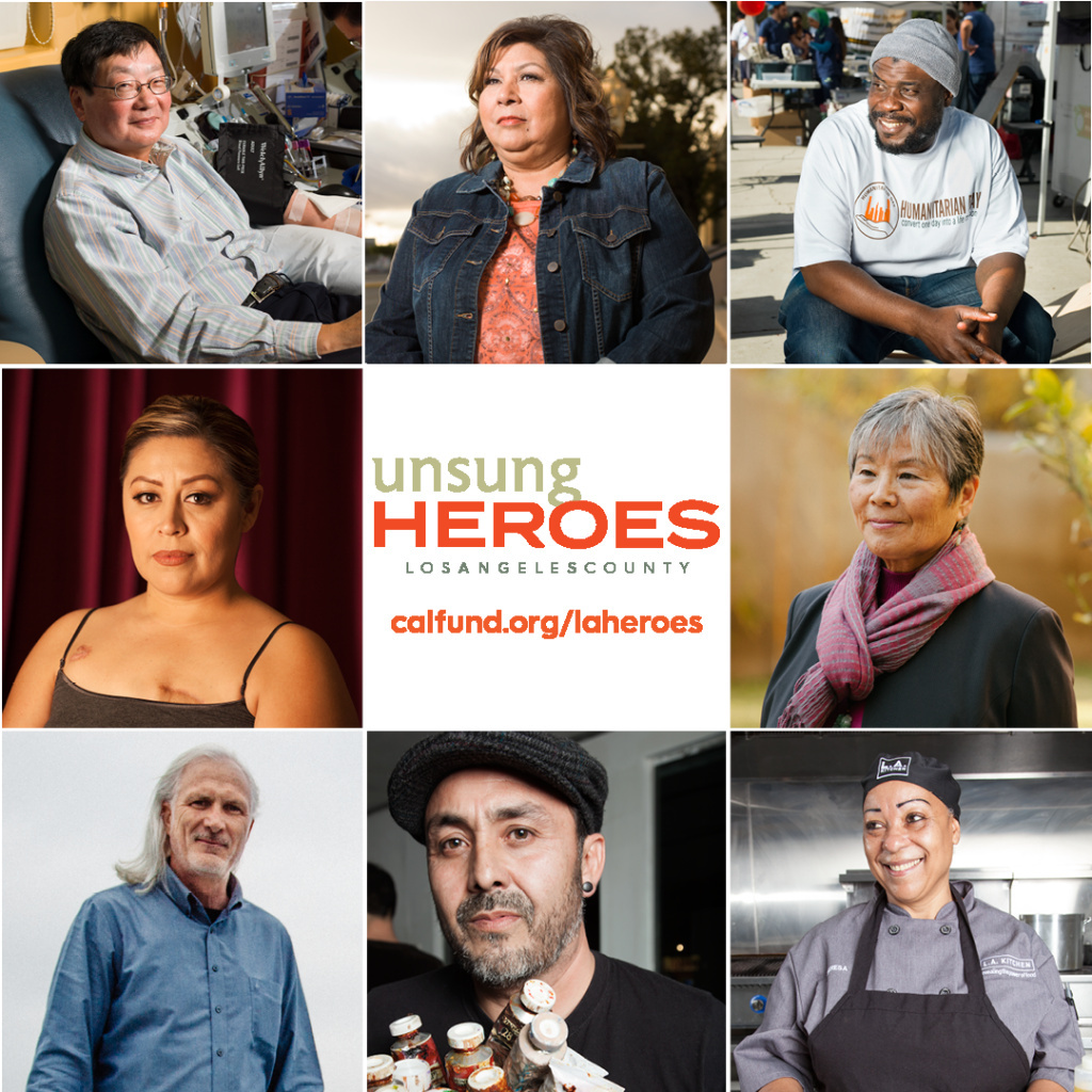 Some of the 30 unsung heroes highlighted in California Community Foundation's photo exhibit titled 'Portraits of Compassion'.