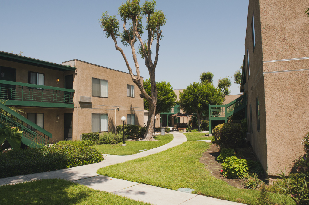 Rosewood Park, a senior housing complex in Commerce, California, where residents say new owners have drastically increased rents.