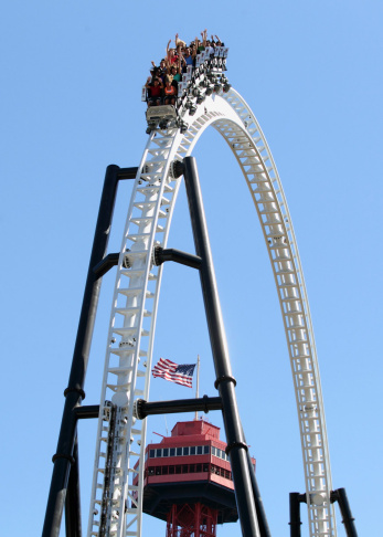 Full Throttle, a triple launch coaster featuring a world-record 160-foot tall loop and first ever
