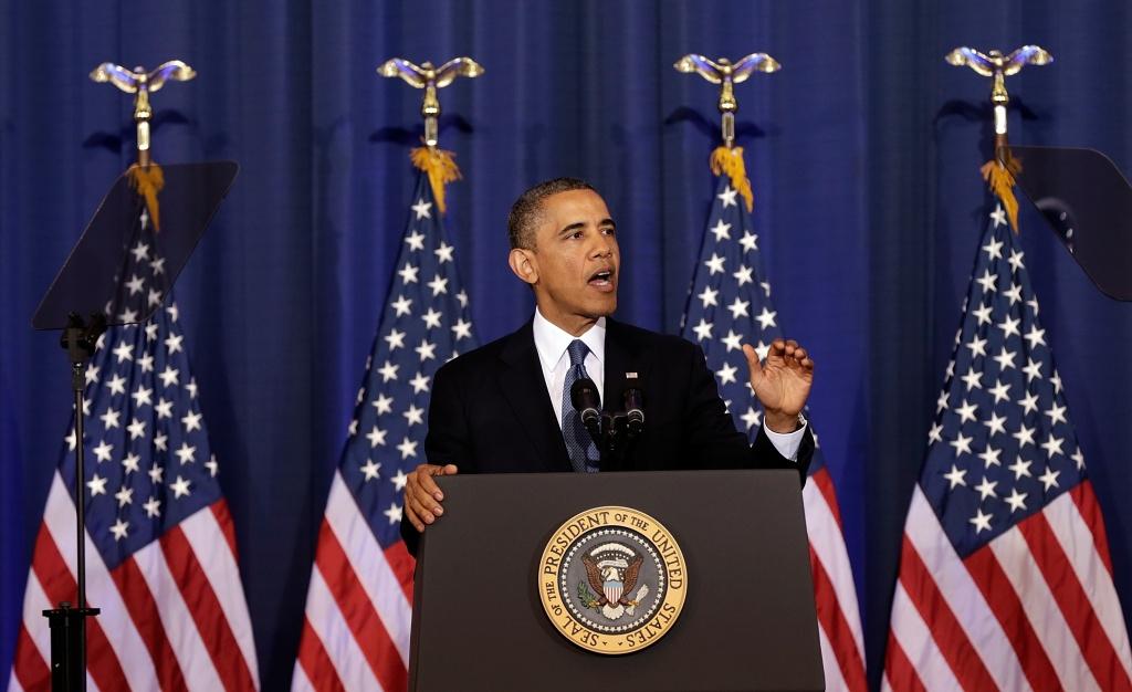 U.S. President Barack Obama speaks at the National Defense University May 23, 2013 in Washington, DC.