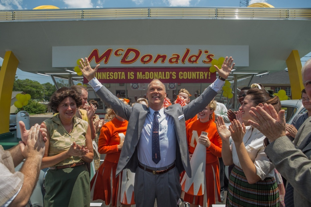 THE FOUNDER is a drama that tells the true story of how Ray Kroc (Michael Keaton), a salesman from Illinois, met Mac and Dick McDonald, who were running a burger operation in 1950s Southern California. Kroc was impressed by the brothers' speedy system of making the food and saw franchise potential. He maneuvered himself into a position to be able to pull the company from the brothers and create a billion-dollar empire.