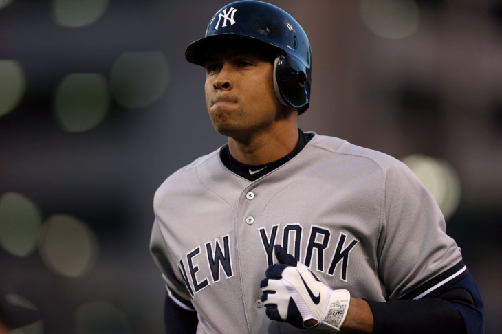 Alex Rodriguez of the New York Yankees during a game in 2012.