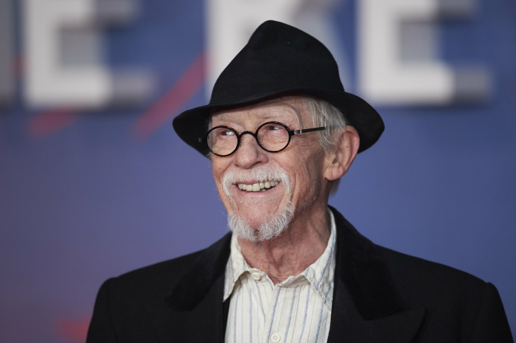 British actor John Hurt poses on arrival for the premiere of the film