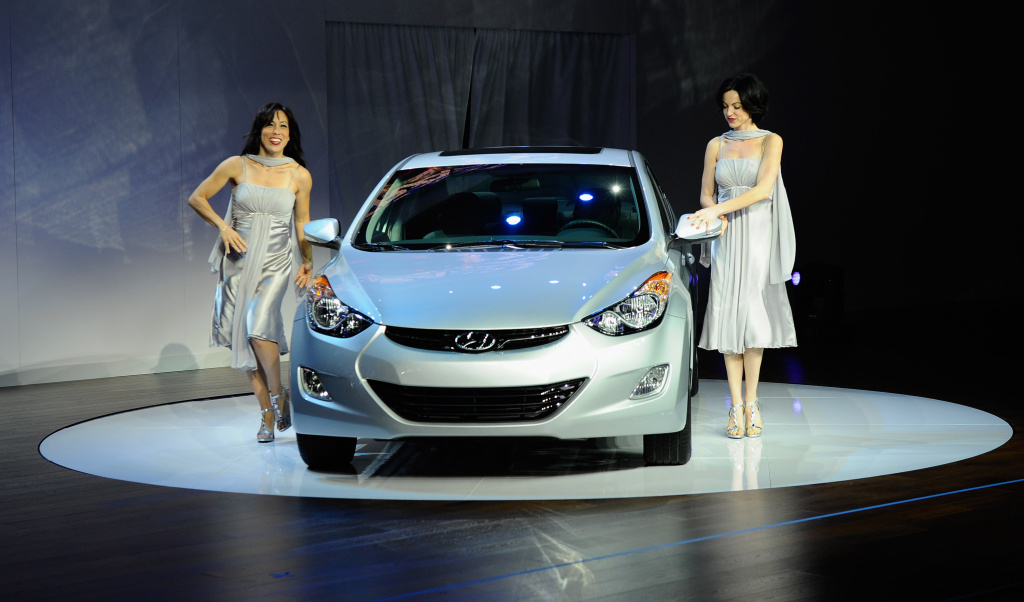 The Hyundai Elantra is debuted at the 2010 Los Angeles Auto Show.