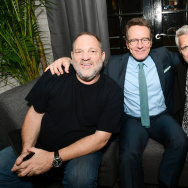 Harvey Weinstein, Bryan Cranston and Neil Burger attend the 'The Upside' cocktail party at the Toronto Film Festival on September 8, 2017.
