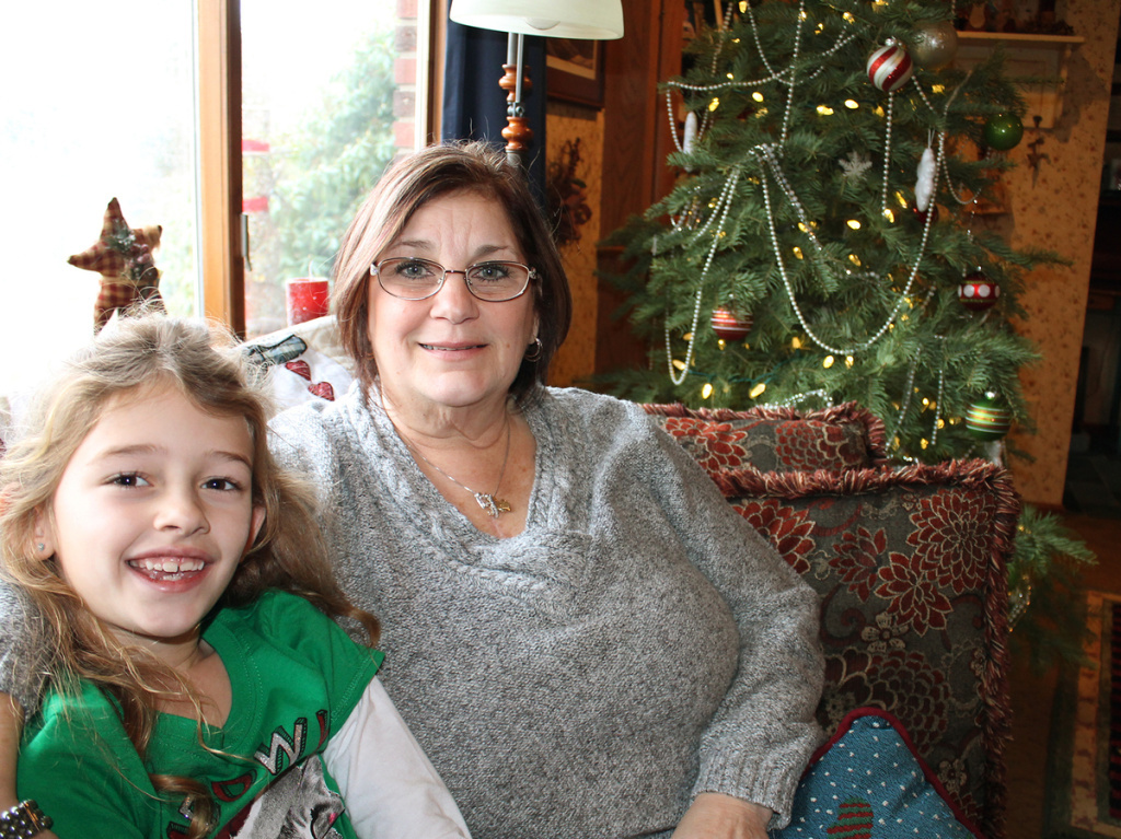 Jody Christ with her granddaughter Aliana Brightbill. A genetic screen helped doctors figure out why Christ had consistently high cholesterol.