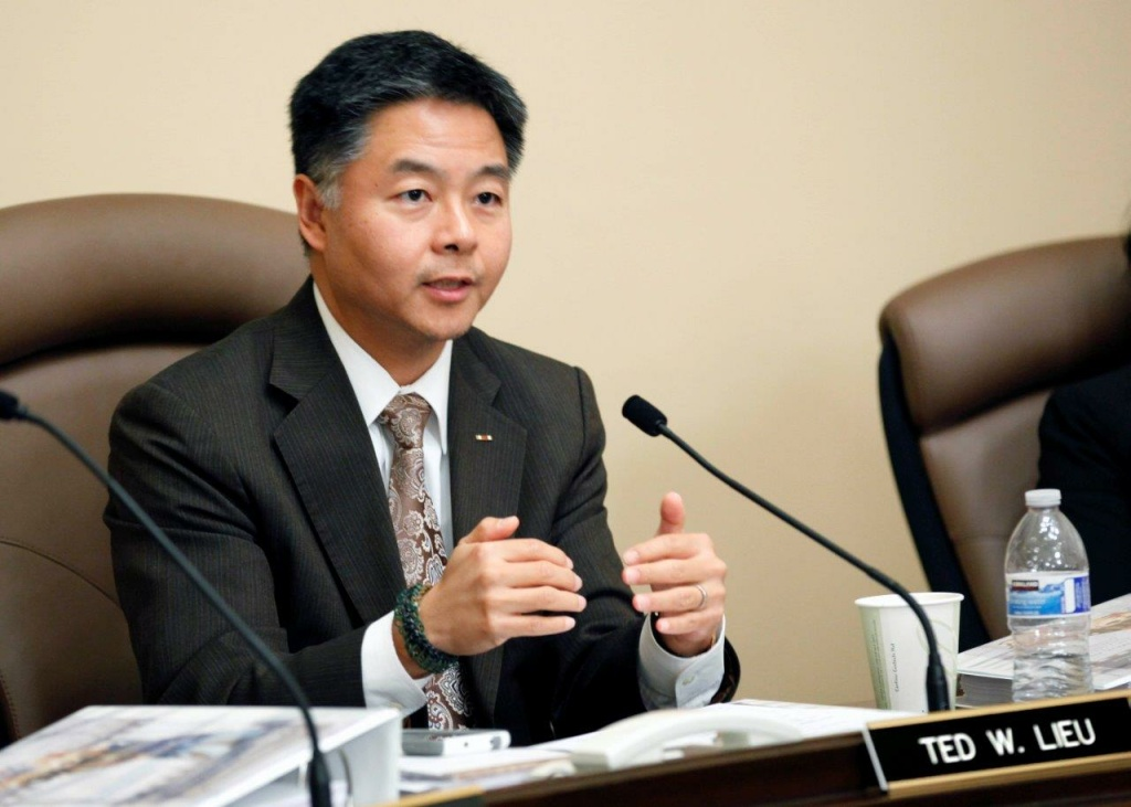 Congressman Ted Lieu speaks during a hearing in Sacramento in February.